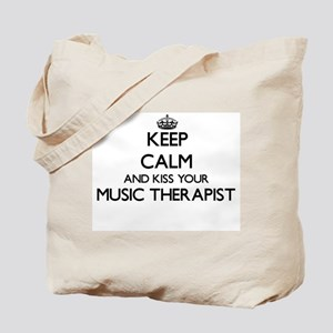 Keep calm and kiss your Music Therapist Tote Bag
