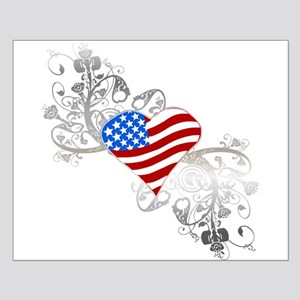 Independence Day Heart Small Poster
