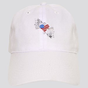 Independence Day Heart Cap