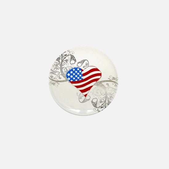 Independence Day Heart Mini Button (10 pack)