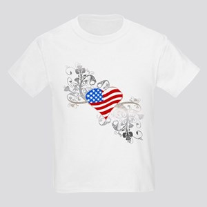Independence Day Heart Kids Light T-Shirt