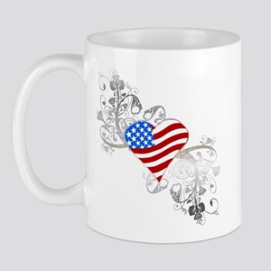 Independence Day Heart Mug