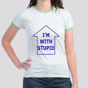 """I'm With Stupid"" Jr. Ringer T-Shirt"