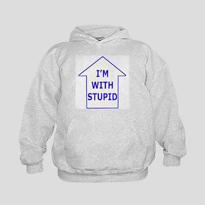 """I'm With Stupid"" Kids Hoodie"