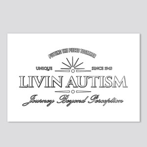 Livin Autism Postcards (Package of 8)