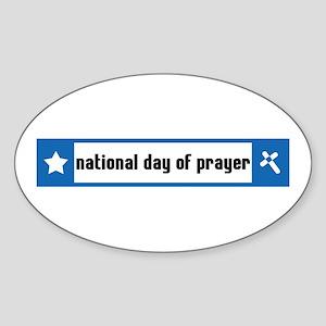 National Day of Prayer Oval Sticker