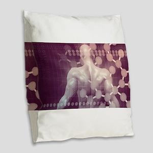 Medical Innovation Burlap Throw Pillow