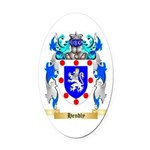 Hendly Oval Car Magnet
