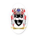 Hemmingway Oval Car Magnet
