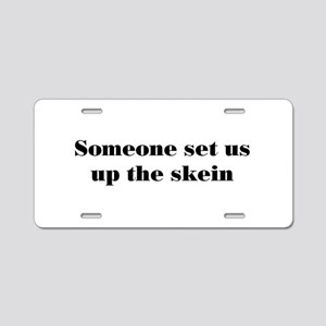 skein Aluminum License Plate