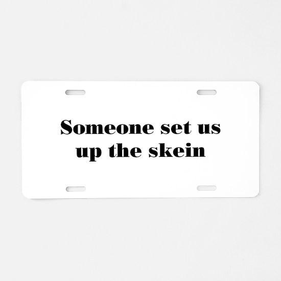skein Aluminum License Plate