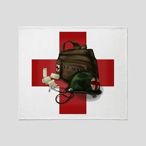 Army Cross Throw Blanket