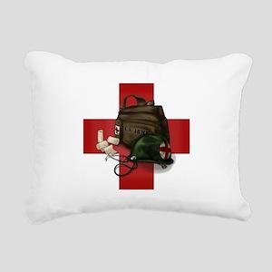 Army Cross Rectangular Canvas Pillow