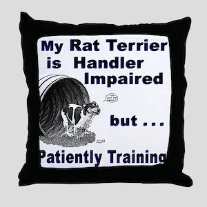Rat Terrier Agility Throw Pillow