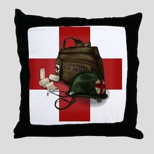 Army Cross Throw Pillow