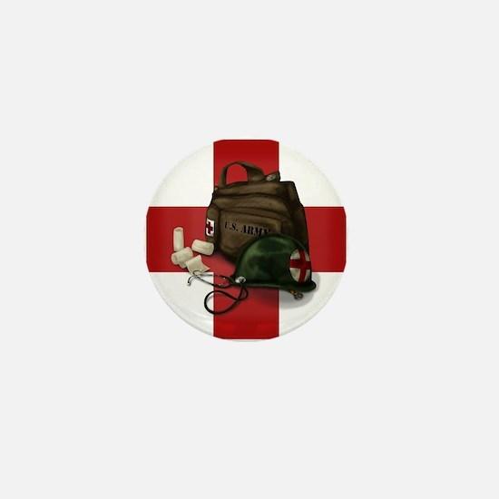 Army Cross Mini Button