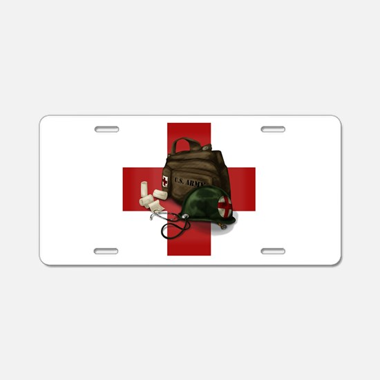 Army Cross Aluminum License Plate