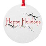 Hairstylist Happy Holidays Round Ornament