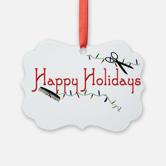 Hairstylist Happy Holidays Ornament