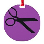 Scissor -- Stylist Shears Round Ornament
