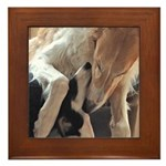 Borzoi Puppy Love Framed Tile