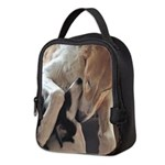 Borzoi Puppy Love Neoprene Lunch Bag