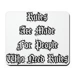 Rules Mousepad