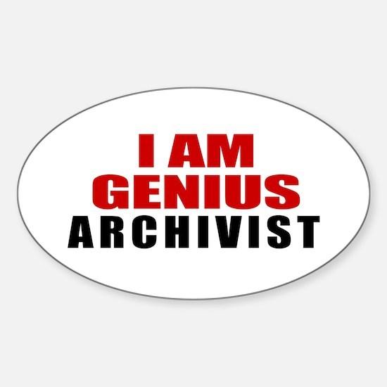 I Am Genius Archivist Sticker (Oval)