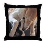 Borzoi Puppy Love Throw Pillow