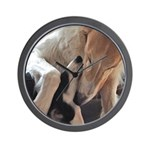 Borzoi Puppy Love Wall Clock