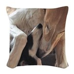 Borzoi Puppy Love Woven Throw Pillow