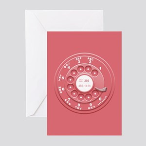 Rotary phone greeting cards cafepress rotary faux pink greeting cards pk of 10 m4hsunfo