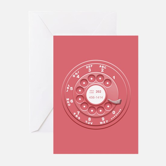 Rotary Faux -Pink Greeting Cards (Pk of 10)