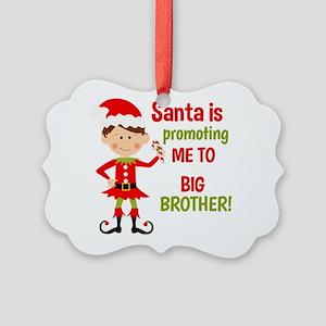 Santa Big Brother Baby Announcement Ornament