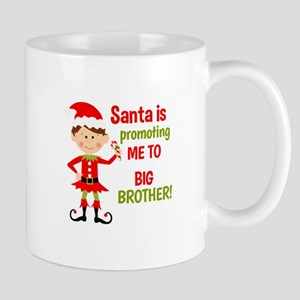 Santa Big Brother Baby Announcement Mugs