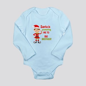 Santa Big Brother Baby Announcement Body Suit