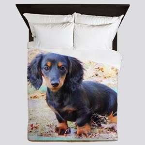 Puppy Love Doxie Queen Duvet