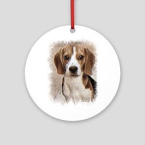Beagle Hound Ornament (round)