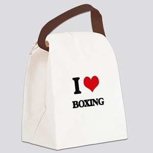 I Love Boxing Canvas Lunch Bag