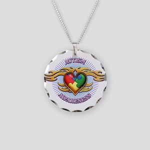 AUTISM TRIBAL HEART5 Necklace