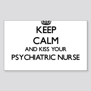 Keep calm and kiss your Psychiatric Nurse Sticker
