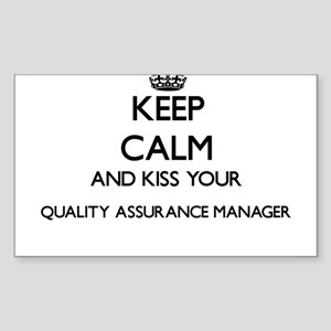 Keep calm and kiss your Quality Assurance Sticker
