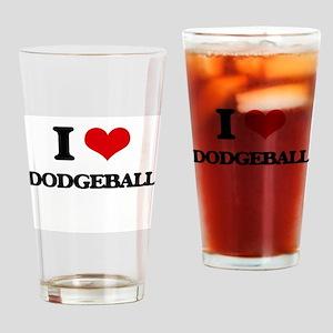 I Love Dodgeball Drinking Glass