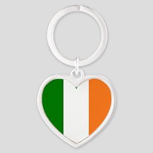 Irish Flag heart Valentine Green Border Keychains