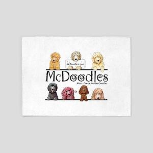 Goldendoodle McDoodles 5'x7'Area Rug