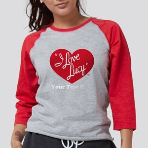 Personalized I Love Lucy Womens Baseball Tee