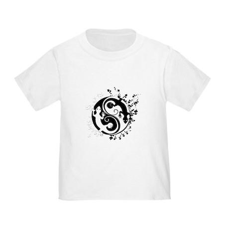 Black & White Gecko Yin-Yang Toddler T-Shir