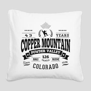 Copper Mtn Vintage Square Canvas Pillow