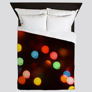 Bokeh Christmas Lights Queen Duvet