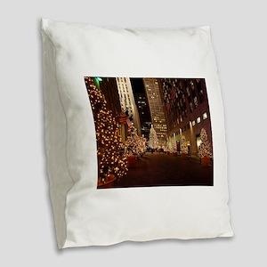nyc1 Burlap Throw Pillow